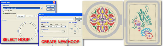 Complete Hoop designer including the most popular hoops of the market
