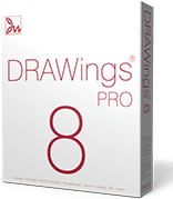 DRAWings 8 PRO Embroidery software box