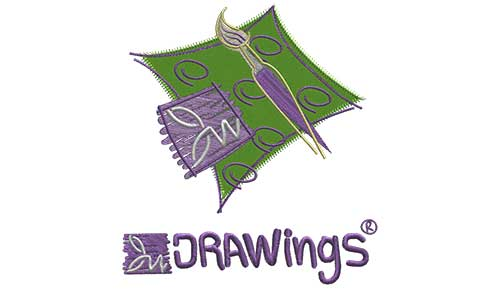 Embroidery Design wign DRAWings Logo