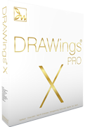DRAWings X PRO Embroidery software box