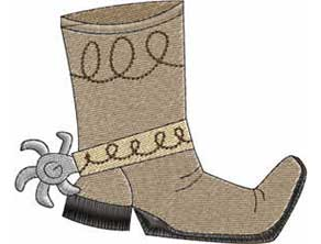 cowboy boot embroidery design
