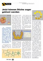 May, 2011 - DRAWings 5 Embroidery Software Article (GERMAN)