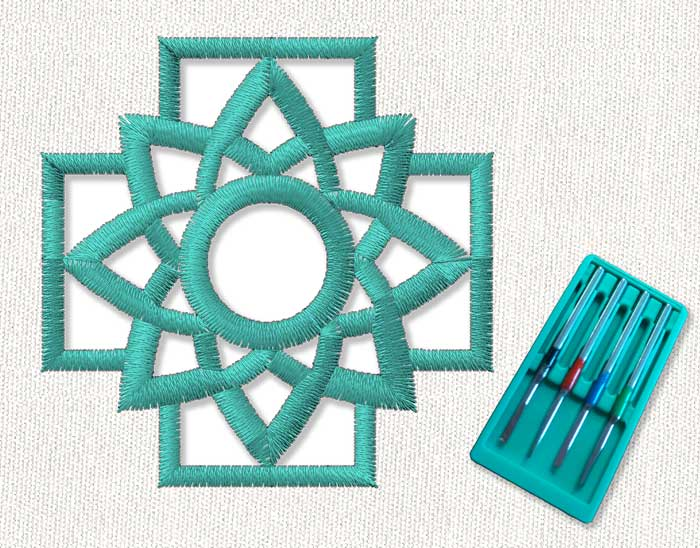 Cutwork tool that supports cutting needles for embroidery machines