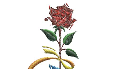 Flower free embroidery design