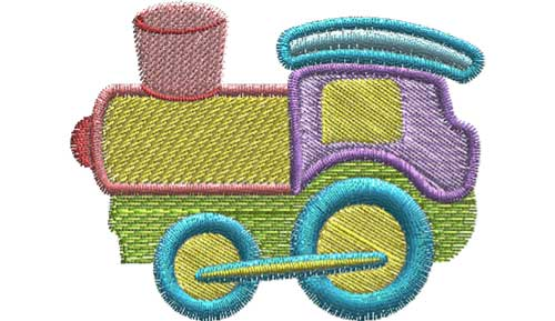 Train free embroidery design