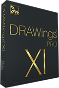 DRAWings PRO XI Embroidery software box